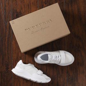 Burberry Regis Low Optic White Sneakers - 38.5 EU